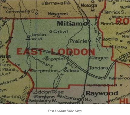 Map of East Loddon Shire